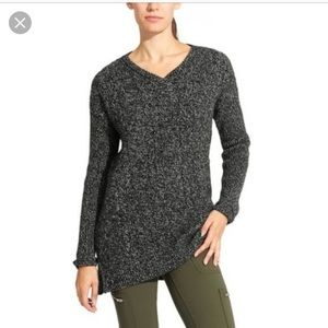 Athleta northern lights asymmetrical sweater XL